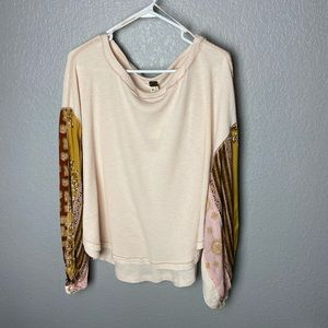 Free People Blossom Thermal Printed Balloon-Sleeve